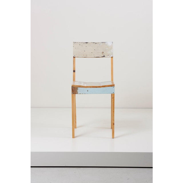 Scrapwood chairs in lacquered oak made of reclaimed wood by Piet Hein Eek.