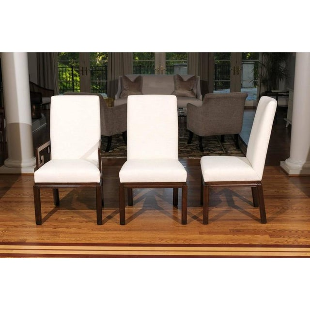 Wood Rare Restored Set of Six Parsons Style Dining Chairs by Baker For Sale - Image 7 of 11