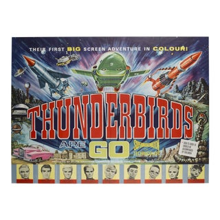 Original Vintage Thunderbirds Are Go! 1966 British Film Poster For Sale