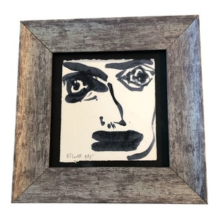 Original Contemporary Robert Cooke Abstract Face Painting Framed For Sale