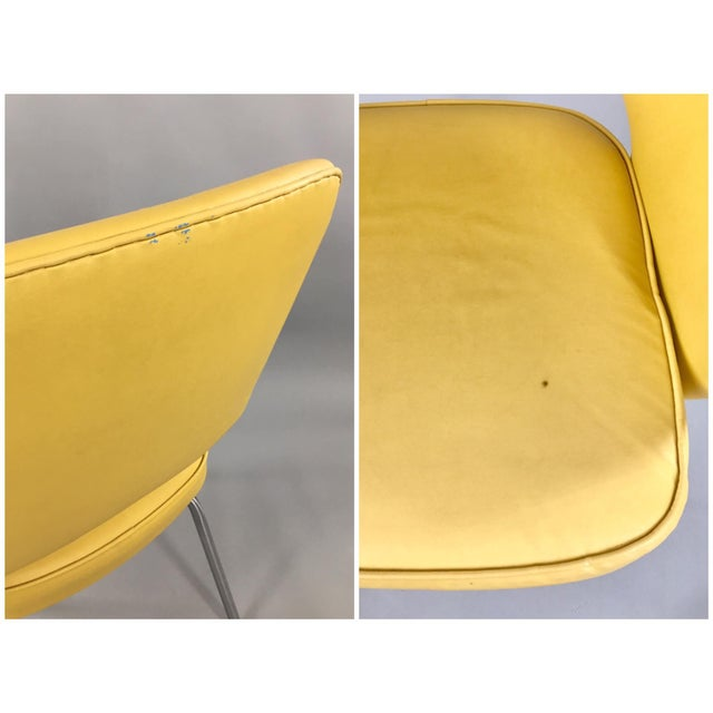 Original 1950's Vintage Eero Saarinen for Knoll Model 71 Executive Armchairs - a Pair - Image 10 of 11