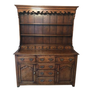 1860s Traditional Welsh China Cabinet For Sale