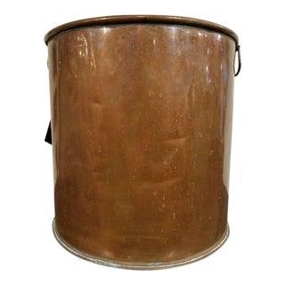 Round Copper Coal Shuttle For Sale