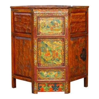 Early 20th Century Corner Tibetan Cabinet For Sale