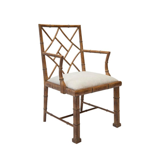 1970's Chinoiserie Chippendale Bamboo Side Chair - Image 2 of 4