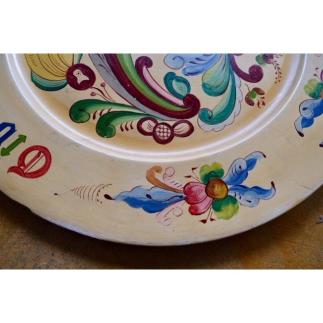 Late 19th Century 1800s Norwegian Bread Platter, Signed For Sale - Image 5 of 11