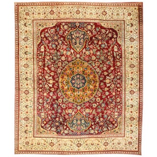 Antique 19th Century Agra Carpet For Sale