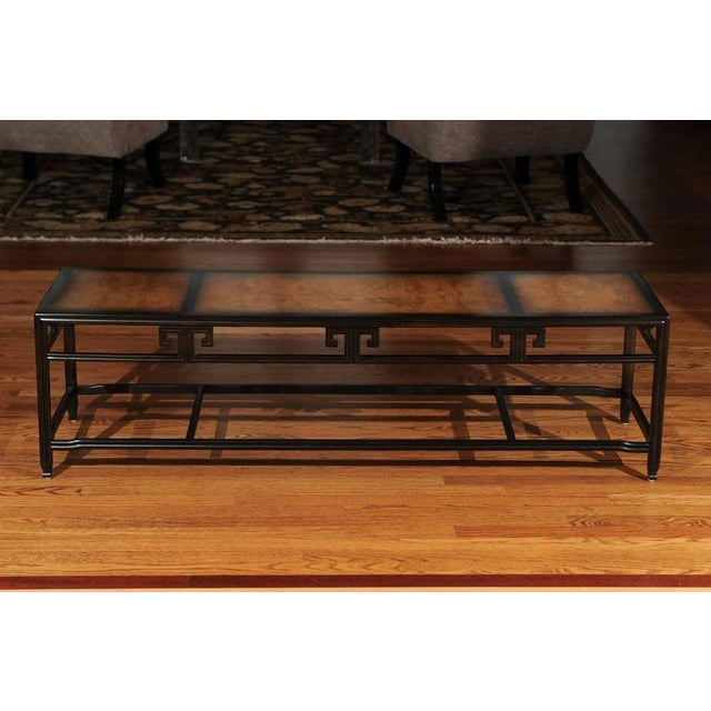 """Elegant Burl Inlay Coffee Table, """"Far East"""" Collection by Baker For Sale - Image 10 of 11"""