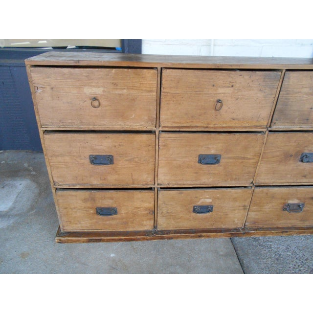 12 Drawer Pine Apothecary Cabinet - Image 4 of 11