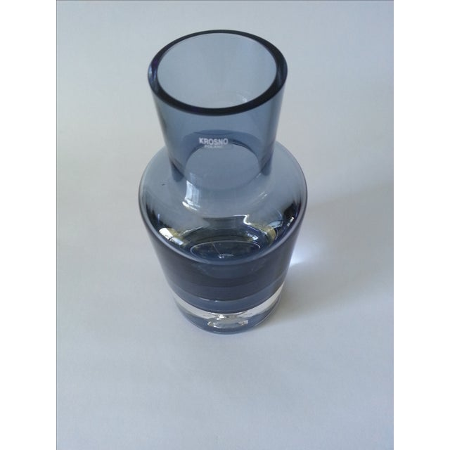 Krosno Poland Bubble Crystal Decanter For Sale - Image 4 of 8