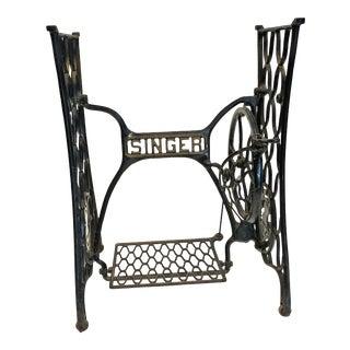 Vintage Industrial Singer Black Iron Treadle Sewing Machine Base
