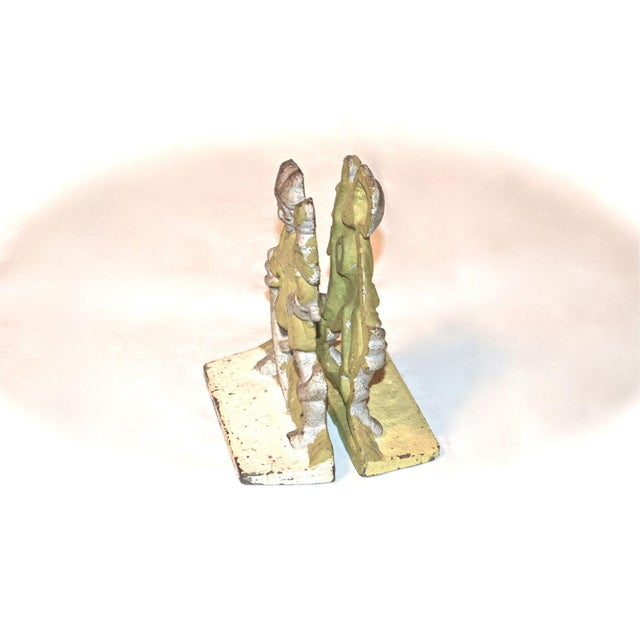 1920s Pirates With Parrots Painted Bookends - A Pair For Sale - Image 6 of 10