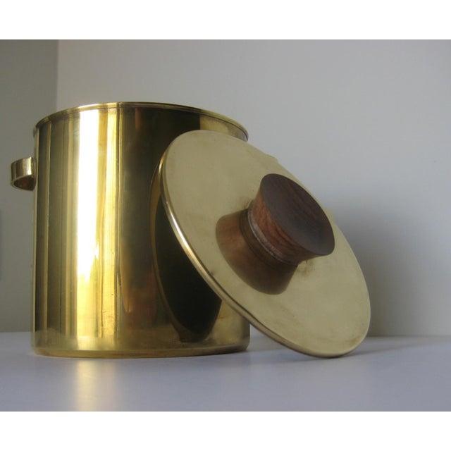 Mid-Century Italian Brass & Teak Ice Bucket - Image 6 of 13