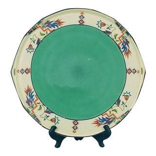 Pre-Wwii German Art Deco Designs Porcelain Cake Plate or Centerpiece For Sale