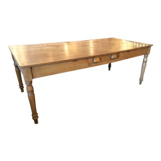 1970s Traditional Tan Oak Farm Table