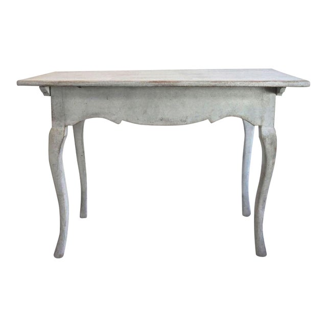 18th C Swedish Rococo Side Table For Sale