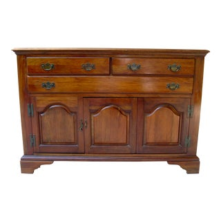 1930's Chippendale Hickory Mfg. Dorothy Robinson Collection Solid Cherry Buffet Server For Sale