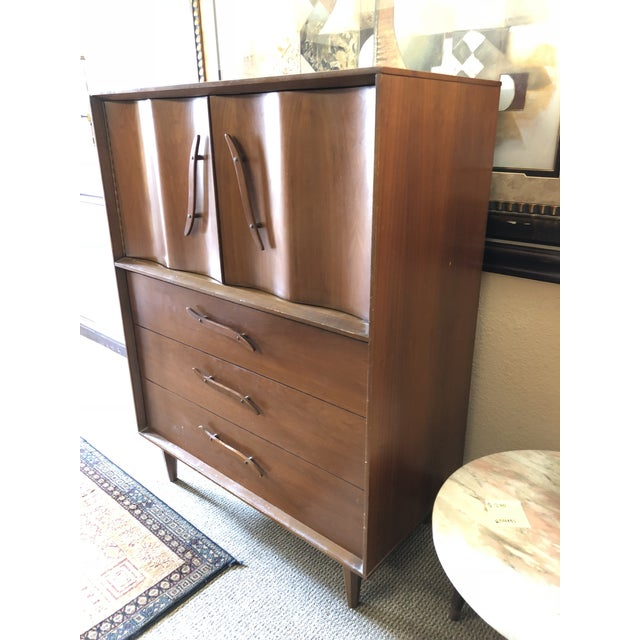1950s Mid-Century Modern Highboy For Sale - Image 4 of 13