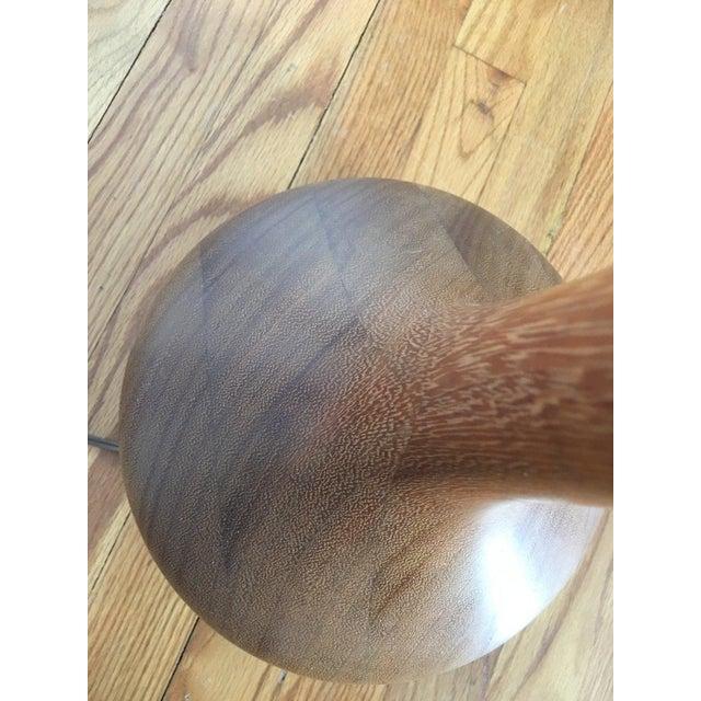Teak Scandinavian Swedish Modern Teak Organic Modern Bulbous Base Floor Lamp For Sale - Image 7 of 10