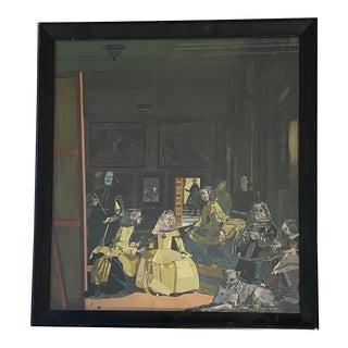 Large Framed Decoupage of Velázquez's Las Meninas For Sale