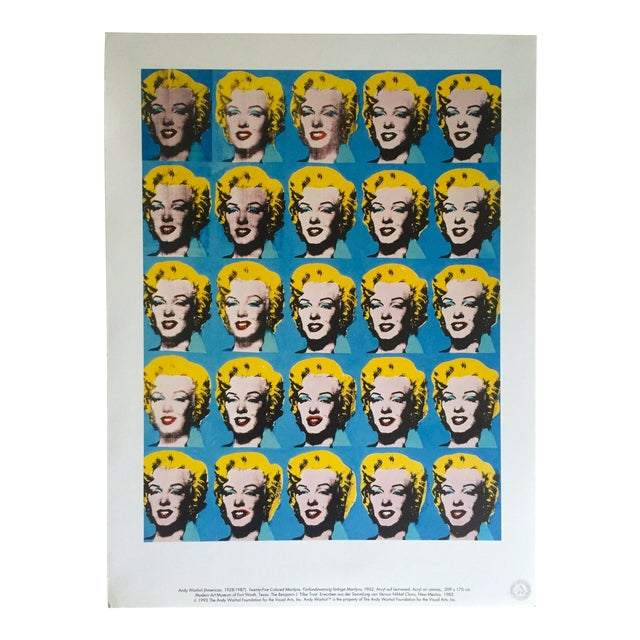 """Andy Warhol Foundation Rare 1993 Lithograph Print """"Twenty Five Marilyns"""" 1962 For Sale"""