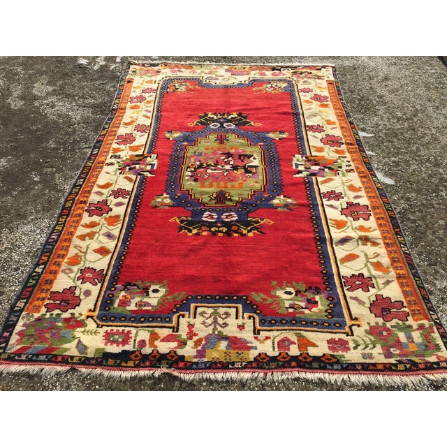 """Vintage Hand Knotted Anatolian Rug - 5'1"""" x 8' - Image 2 of 8"""