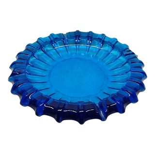 Mid-Century Vintage Blue Ashtray For Sale