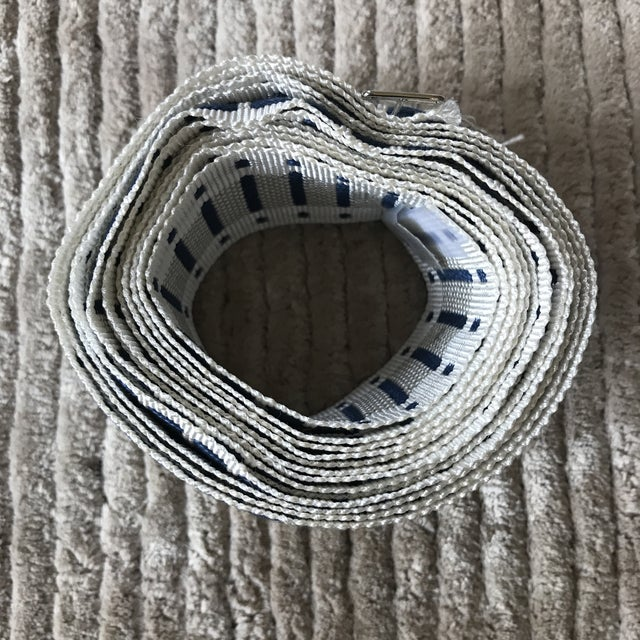Contemporary Schumacher Blue Trim - 3+ Yards For Sale - Image 3 of 5