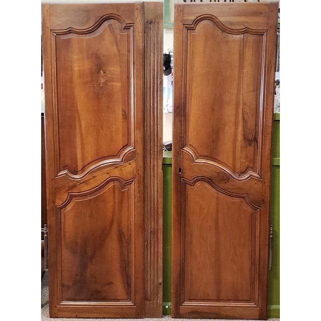 Brown Pair of Mid 19th Century French Walnut Door Panels C.1850s For Sale - Image 8 of 13
