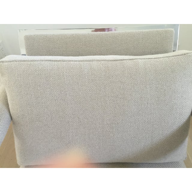 Vintage Belgian Linen & Chrome Chair - Image 5 of 5
