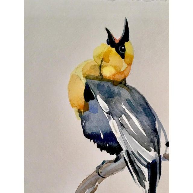 Yellow Headed Blackbird Original Watercolor Painting - Image 2 of 3