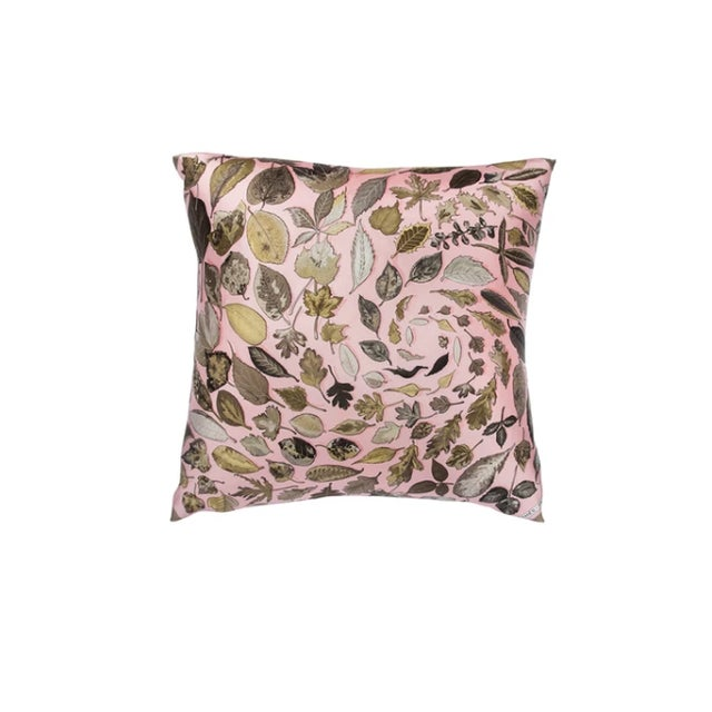 "Contemporary ""Tourbillons"" Hermès Silk Scarf Pillow For Sale - Image 3 of 3"