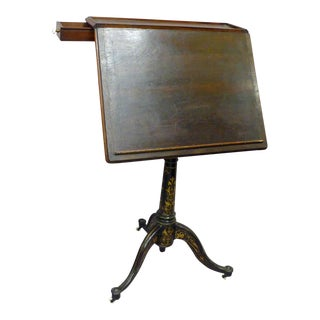 1900s Industrial Telescopic Drafting Table For Sale