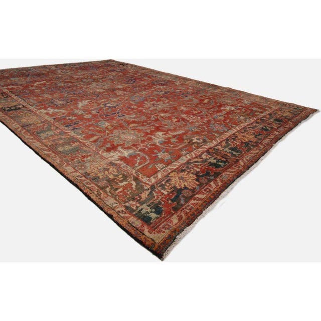 Traditional 1940s Vintage Persian Tabriz Area Rug - 7′3″ × 10′5″ For Sale - Image 3 of 5