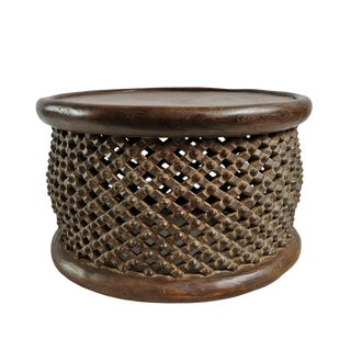 Bamileke Wood Stool Table For Sale