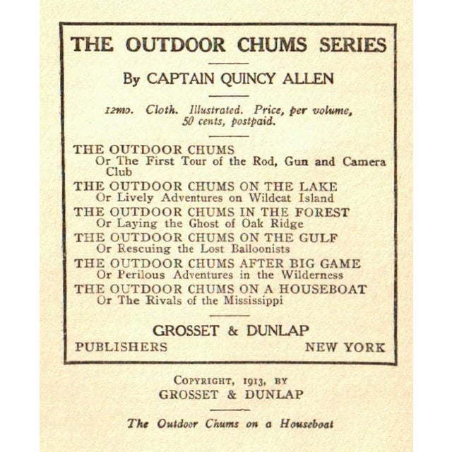 'Outdoor Chums on a Houseboat' Book, 1913 - Image 2 of 2