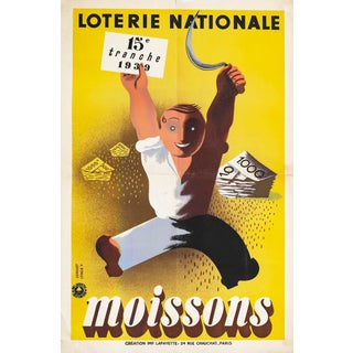 1939 Original French Art Deco Poster, Loterie Nationale: Moissons For Sale