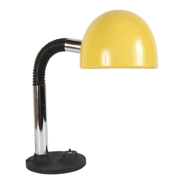 Modernist Enameled Yellow Desk Lamp For Sale