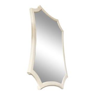Maitland Smith White Tessellated Marble Mirror For Sale