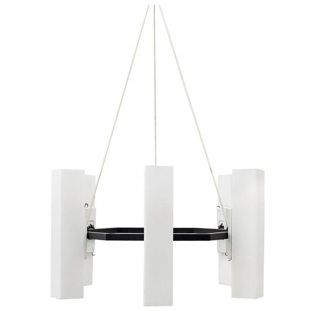 Metal Chandelier by Jan Wahlman, Sweden / 2 Available For Sale - Image 7 of 7