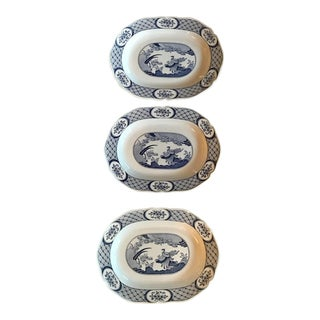 Chinoiserie Old Chelsea Platters - Set of 3