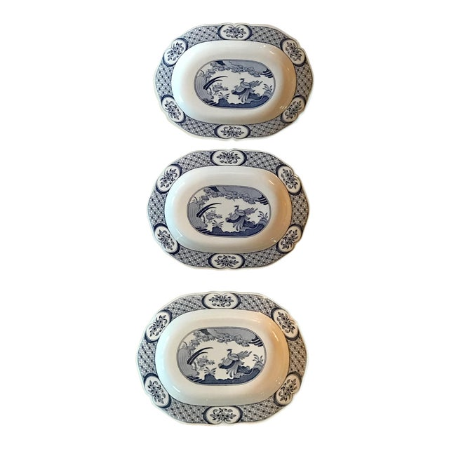 Chinoiserie Old Chelsea Platters - Set of 3 - Image 1 of 8