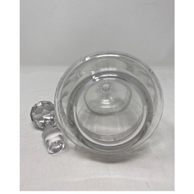 19th Century Antique Baccarat Crystal Decanter With Stopper For Sale - Image 5 of 6
