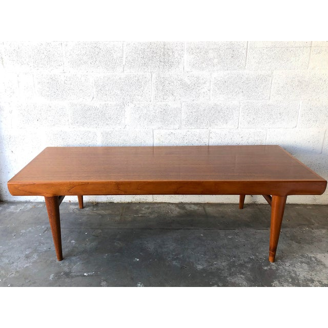 1960s Vintage Mid Century Danish Modern Johannes Andersen Coffee Table for C F C Silkeborg For Sale - Image 5 of 13