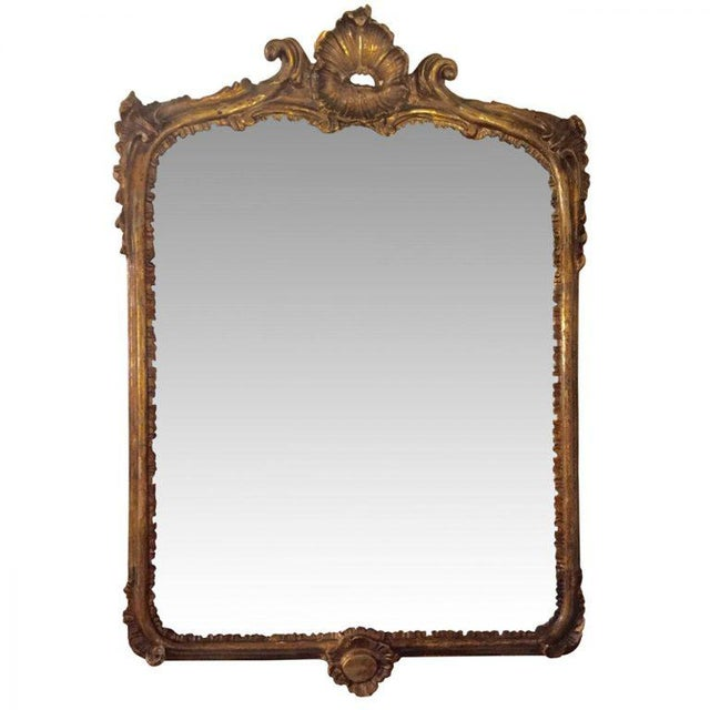 19th C. French Carved Gilt Mirror - Image 2 of 5