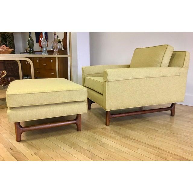 Danish Modern 1960s Vintage Teak Lounge Chair & Ottoman For Sale - Image 3 of 7