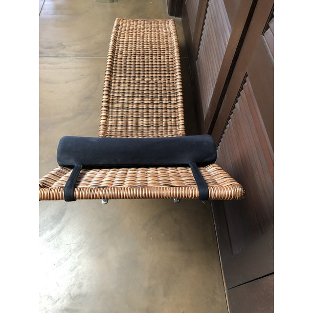 Interior Wicker Chaise Lounge For Sale - Image 4 of 11