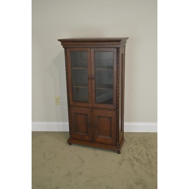 Antique Miniature Victorian Oak 2 Door Bookcase Cabinet For Sale - Image 12 of 13