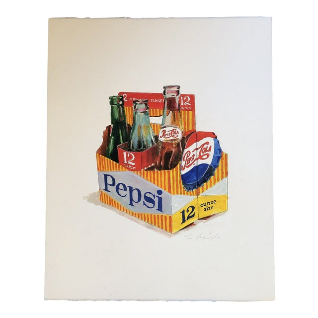 Original Pop Art Painting Stephen Heigh Illustration Pepsi For Sale