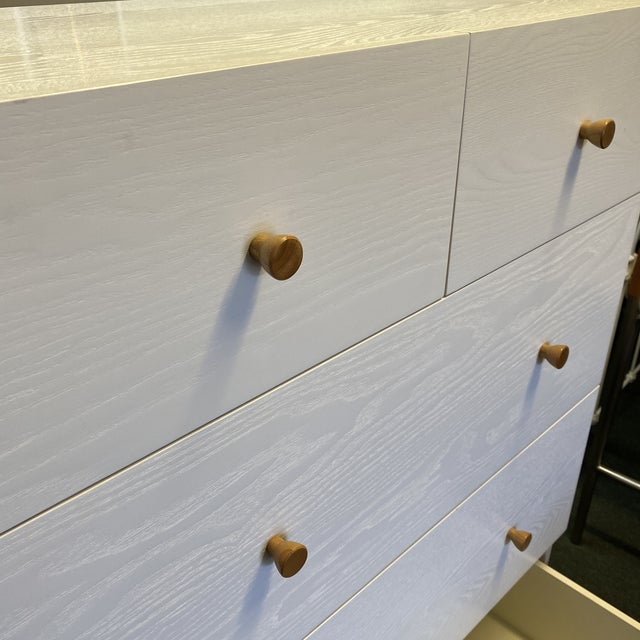 West Elm Mid-20th Century Style Tallboy Dresser For Sale In San Francisco - Image 6 of 13